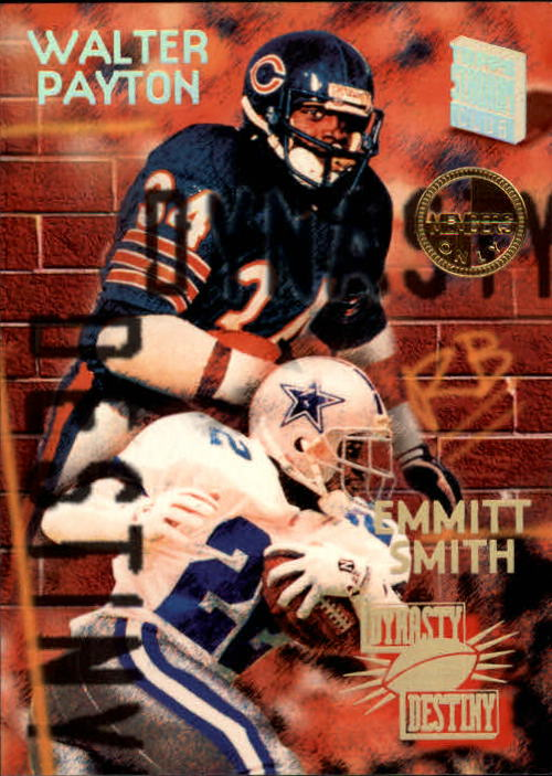 1994 Stadium Club Dynasty and Destiny #1 Emmitt Smith/Walter Payton