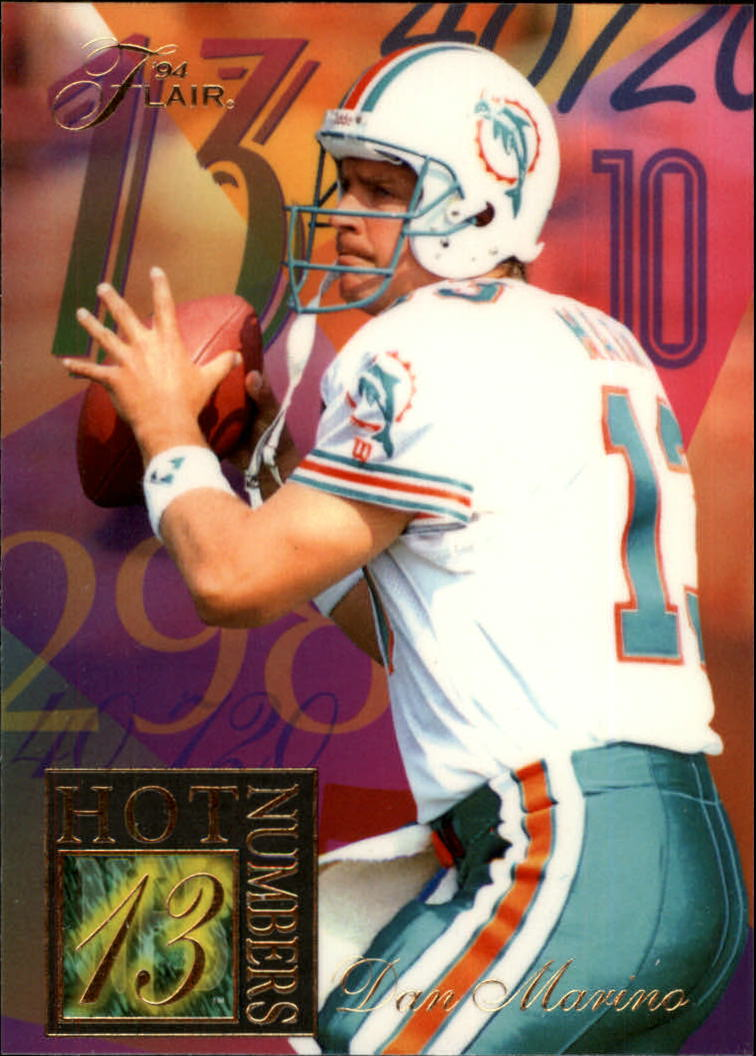 1994 Ultra Flair Hot Numbers #7 Dan Marino