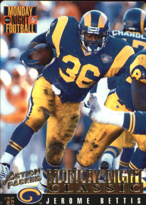1995 Action Packed Monday Night Football #123 Jerome Bettis C