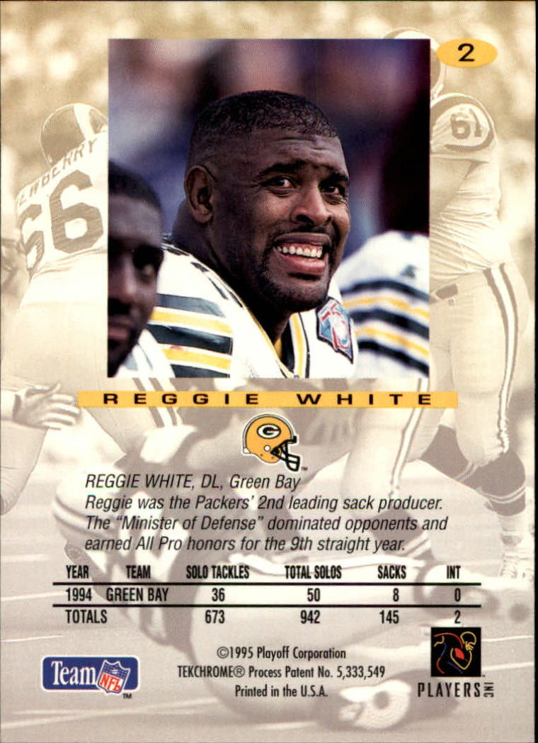 1995 Absolute #2 Reggie White back image