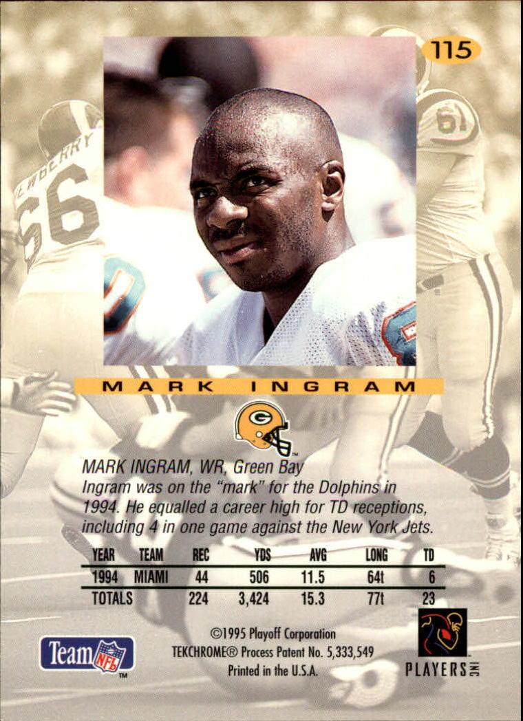 1995 Absolute #115 Mark Ingram back image