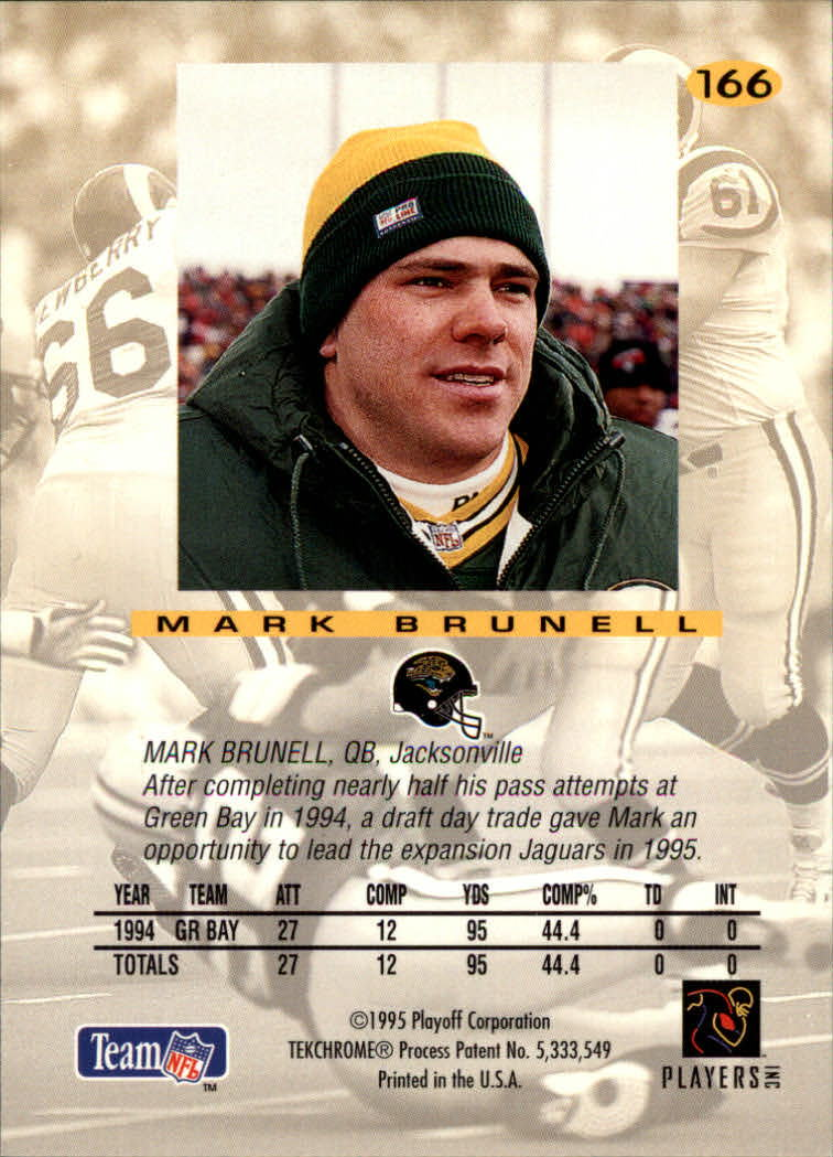 1995 Absolute #166 Mark Brunell back image
