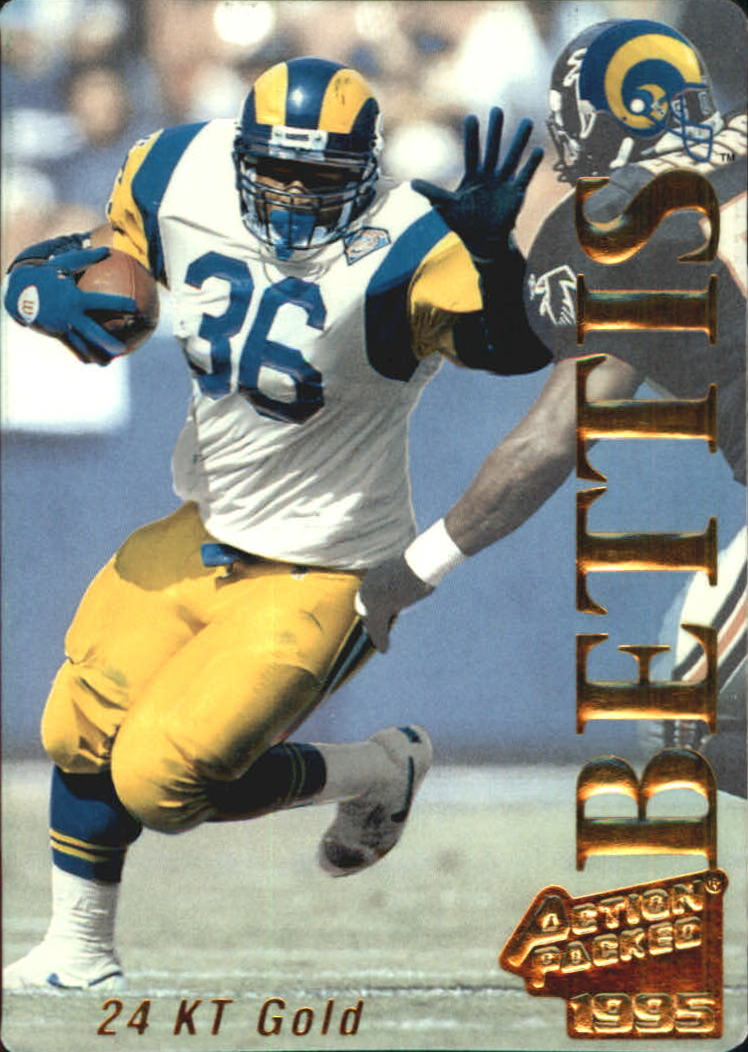 1995 Action Packed 24K Gold #14G Jerome Bettis