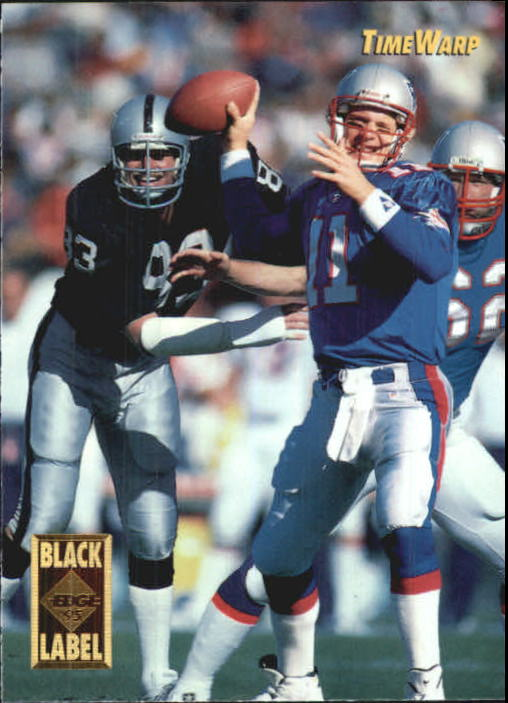 1995 Collector's Edge TimeWarp Black Label #14 Drew Bledsoe/Hendricks