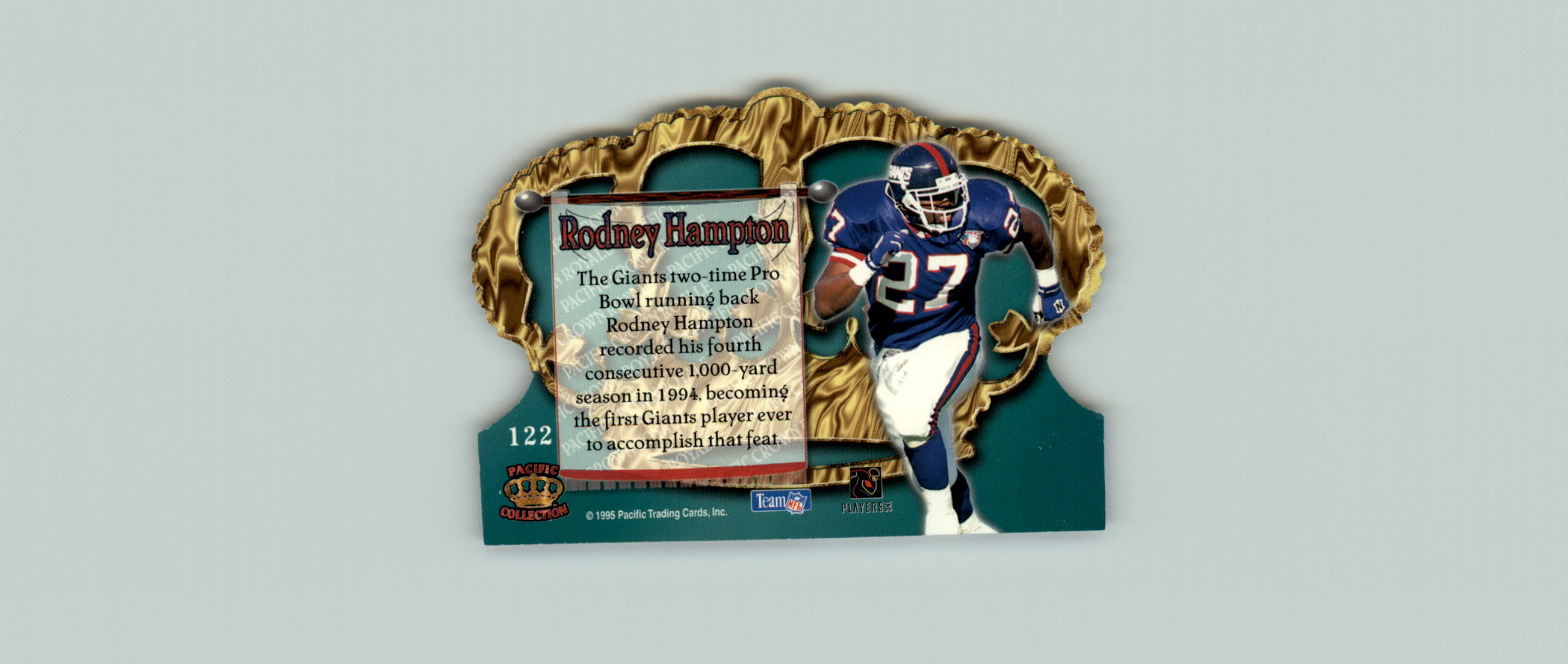 1995 Crown Royale #122 Rodney Hampton back image