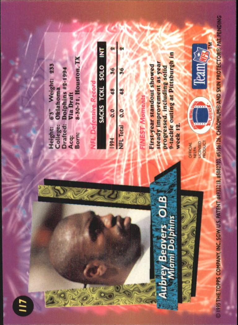 1995 Finest #117 Aubrey Beavers back image