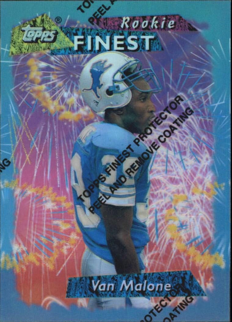 1995 Finest #144 Van Malone