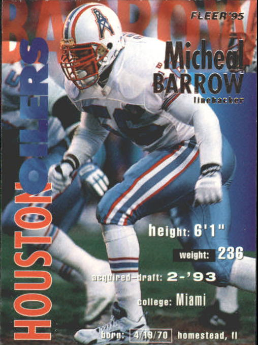1995 Fleer #142 Micheal Barrow