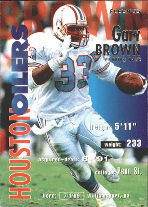 1995 Fleer #143 Gary Brown