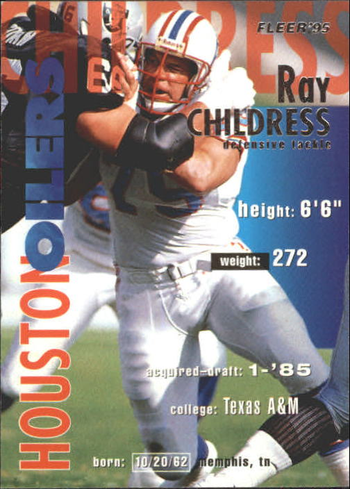 1995 Fleer #145 Ray Childress