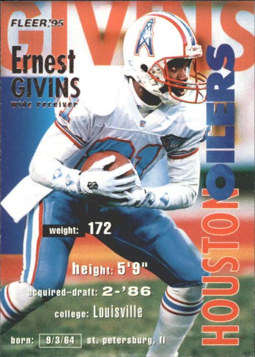 1995 Fleer #147 Ernest Givins