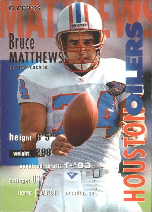 1995 Fleer #150 Bruce Matthews