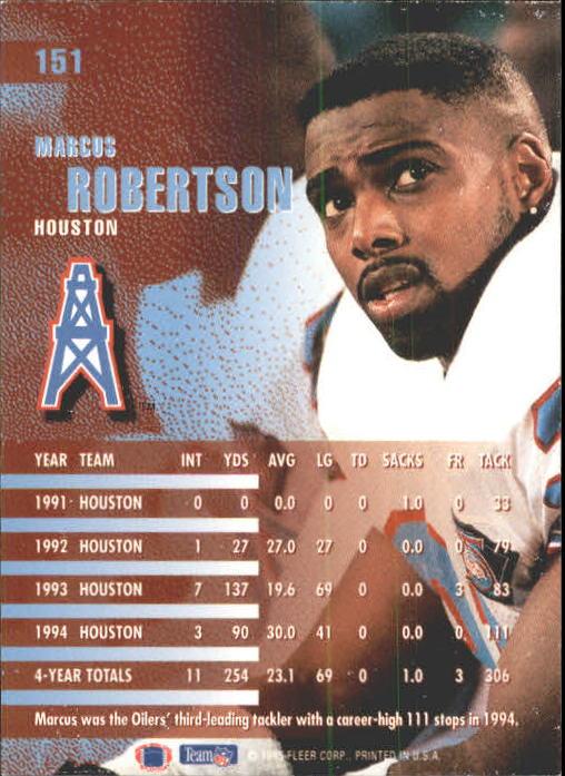 1995 Fleer #151 Marcus Robertson back image
