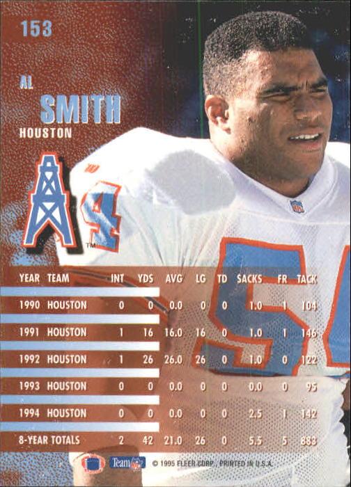 1995 Fleer #153 Al Smith back image