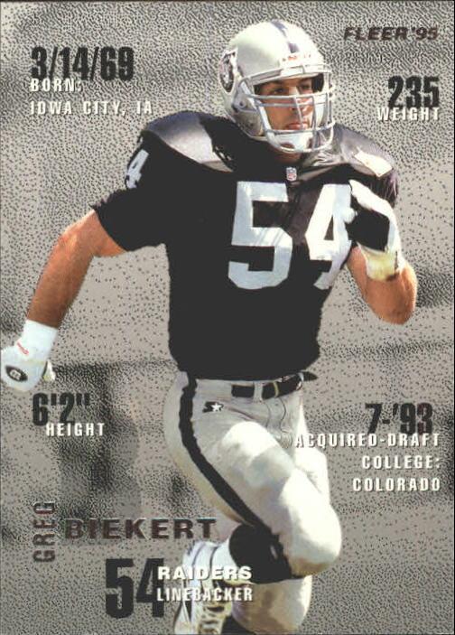 1995 Fleer #187 Greg Biekert