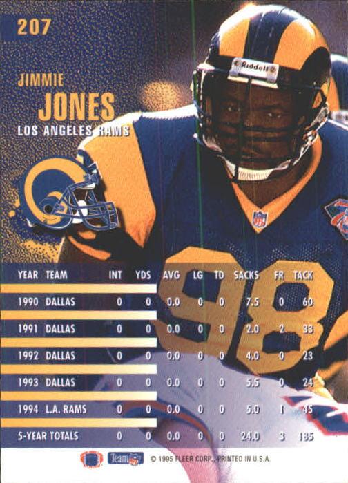 1995 Fleer #207 Jimmie Jones back image