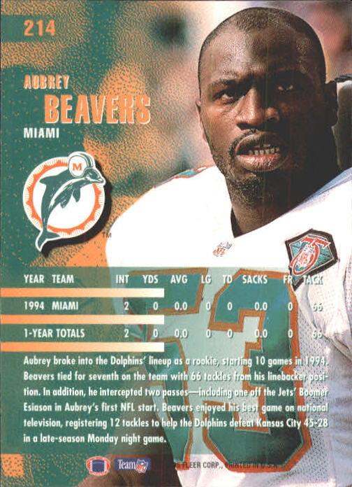 1995 Fleer #214 Aubrey Beavers back image