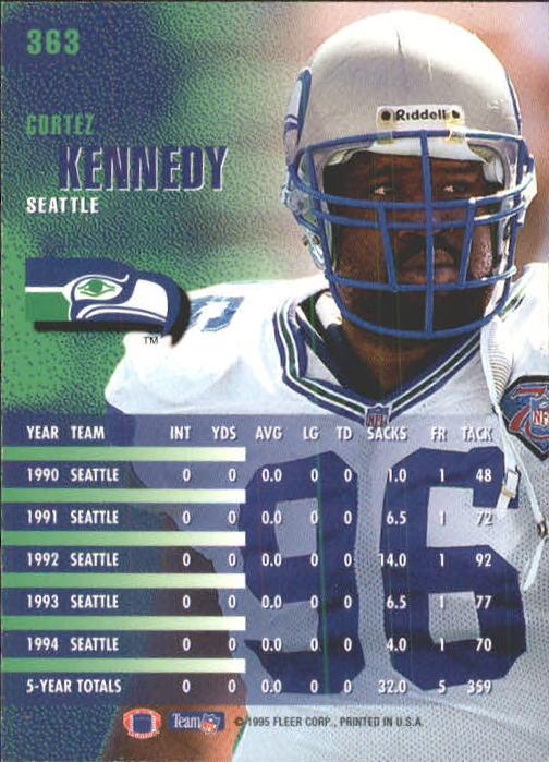 1995 Fleer #363 Cortez Kennedy back image