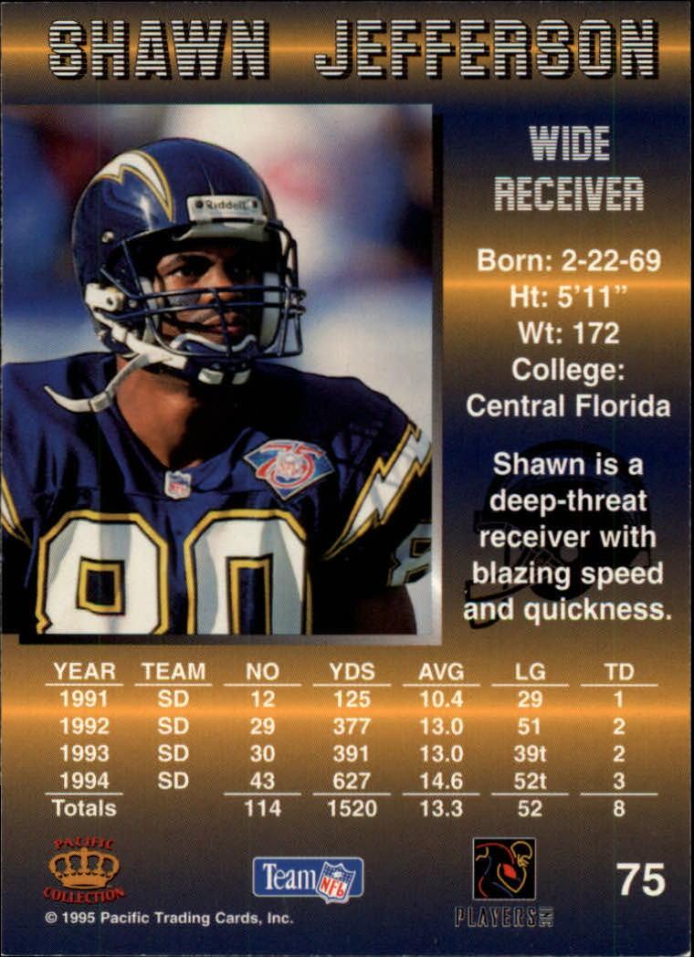 1995 Pacific #75 Shawn Jefferson back image