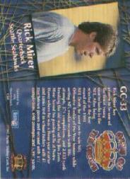 1995 Pacific Gems of the Crown #GC33 Rick Mirer back image