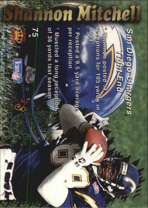 1995 Pacific Prisms #75 Shannon Mitchell RC back image