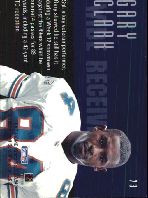 1995 Playoff Contenders #73 Gary Clark back image