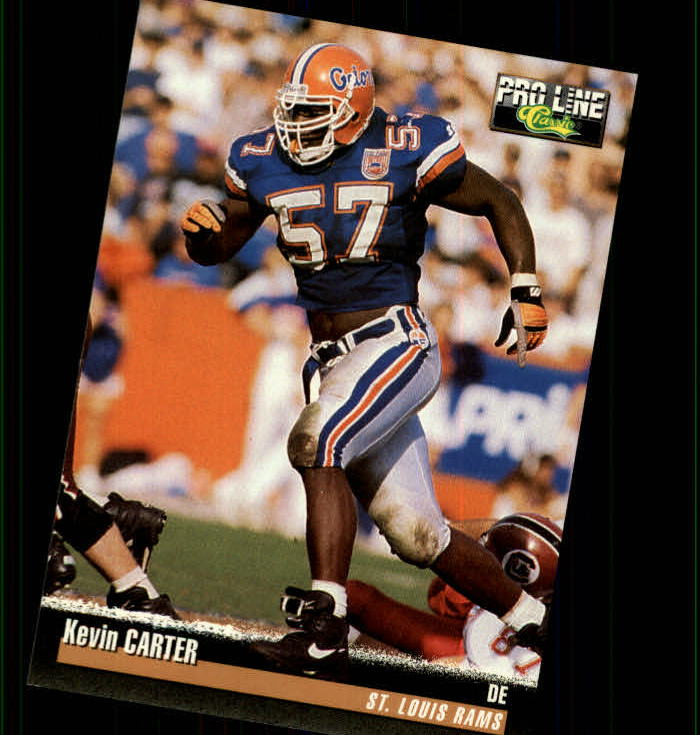 1995 Pro Line #124 Kevin Carter RC