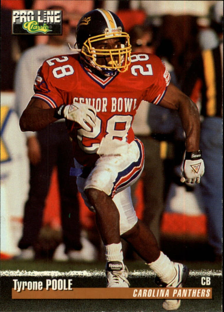 1995 Pro Line #195 Tyrone Poole RC