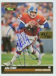 1995 Pro Line Autographs #35 John Elway/50