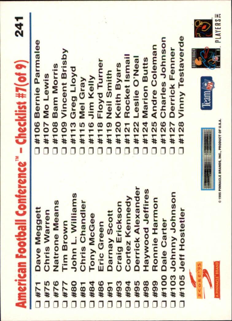 1995 Score #241 Marshall Faulk CL back image
