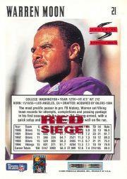 1995 Score Red Siege #21 Warren Moon back image