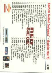 1995 Score Red Siege #240 Drew Bledsoe CL back image