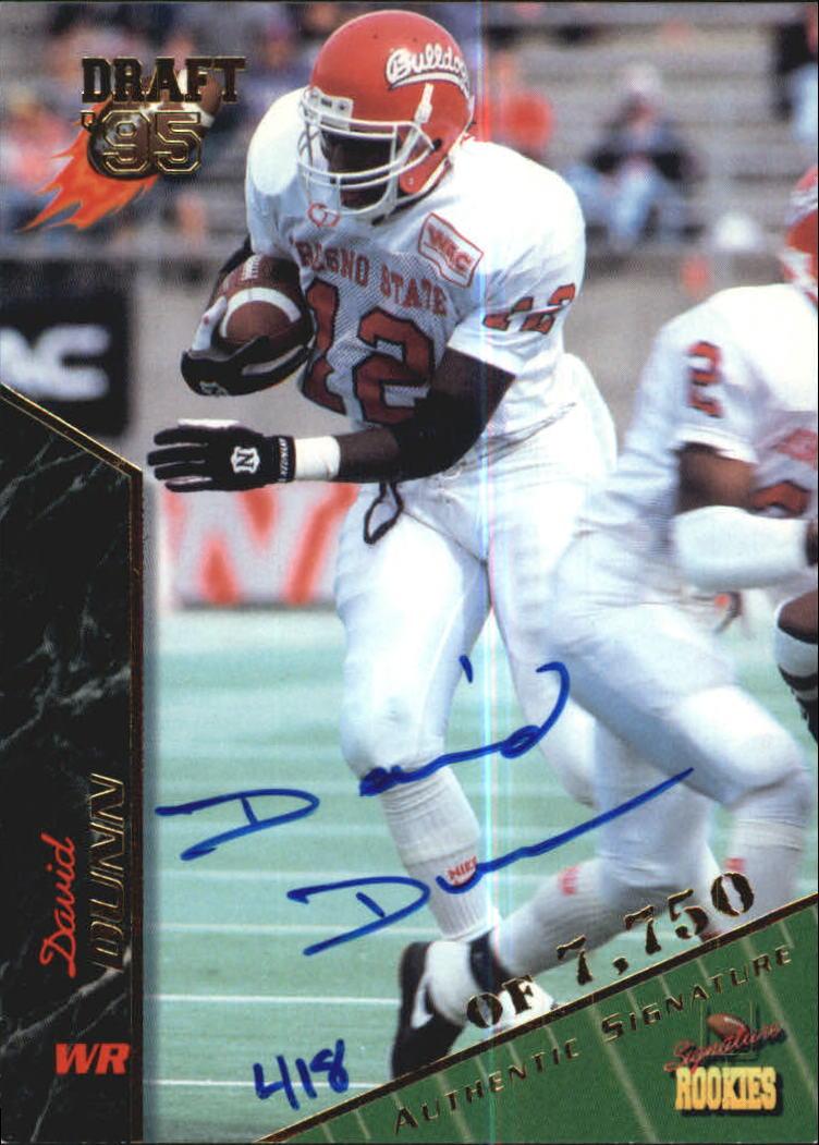 1995 Signature Rookies Autographs #26 David Dunn