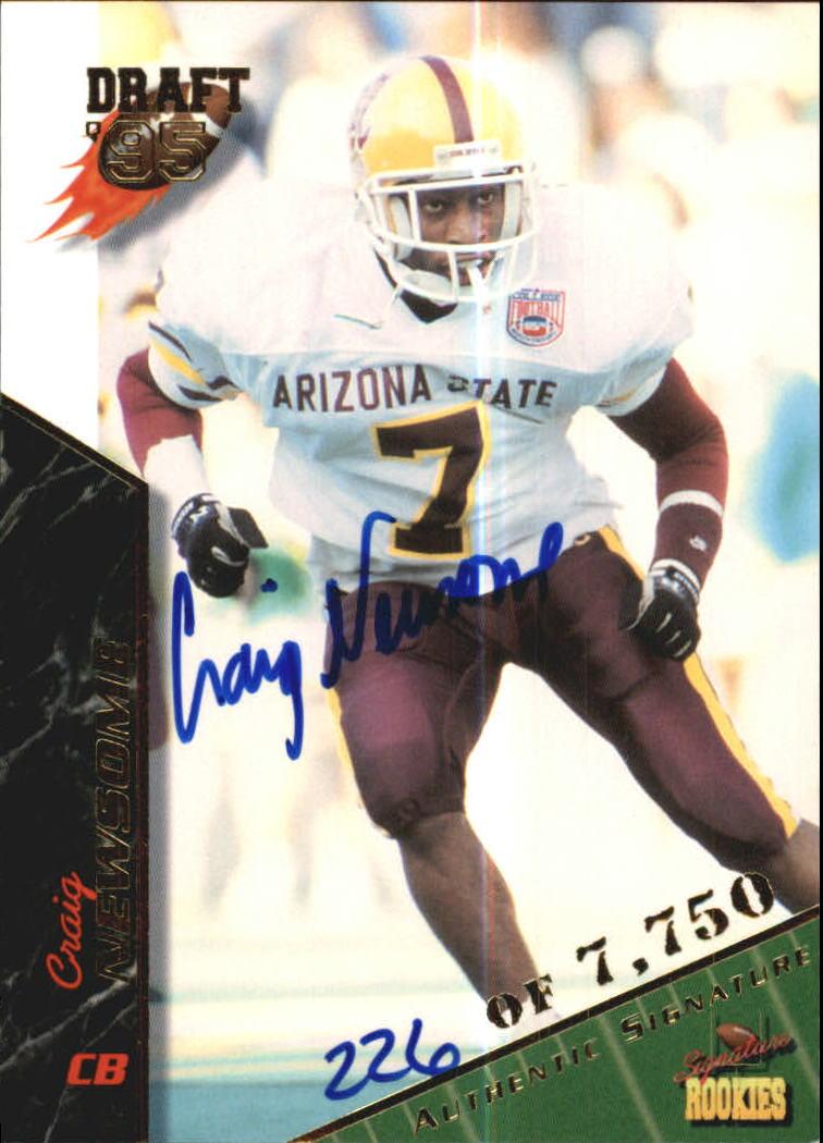 1995 Signature Rookies Autographs #55 Craig Newsome