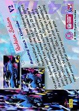 1995 Signature Rookies Peripheral Vision #V2 Rashaan Salaam back image