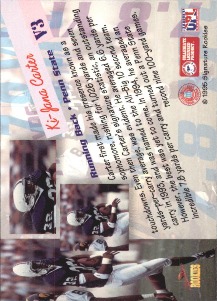 1995 Signature Rookies Peripheral Vision #V3 Ki-Jana Carter back image