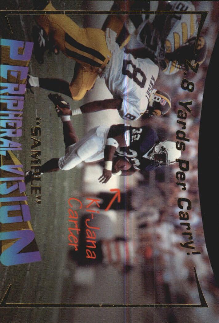 1995 Signature Rookies Peripheral Vision #V3 Ki-Jana Carter