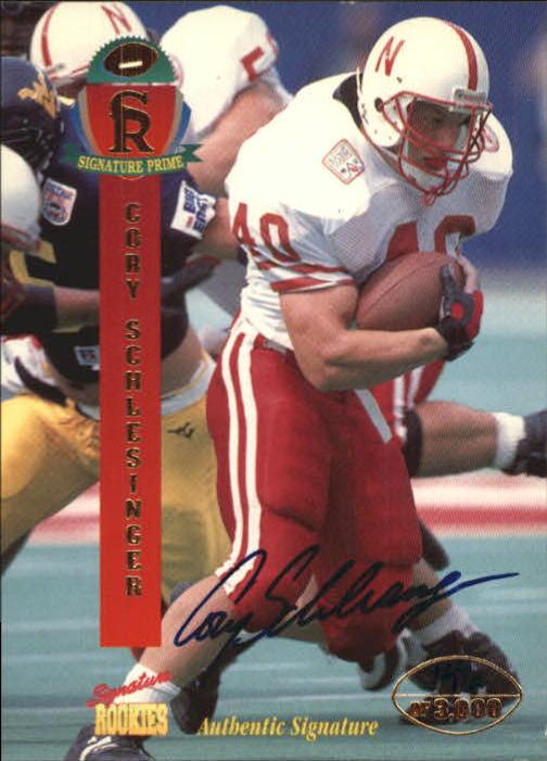 1995 Signature Rookies Signature Prime Autographs #37 Cory Schlesinger