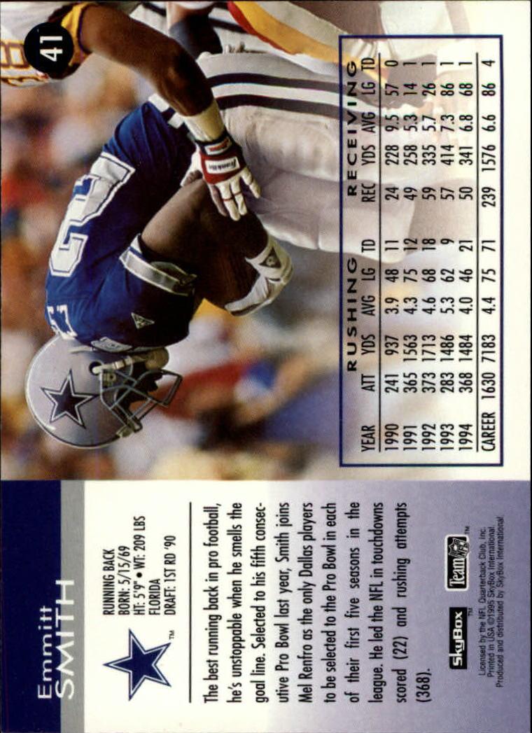 1995 SkyBox Impact #41 Emmitt Smith back image