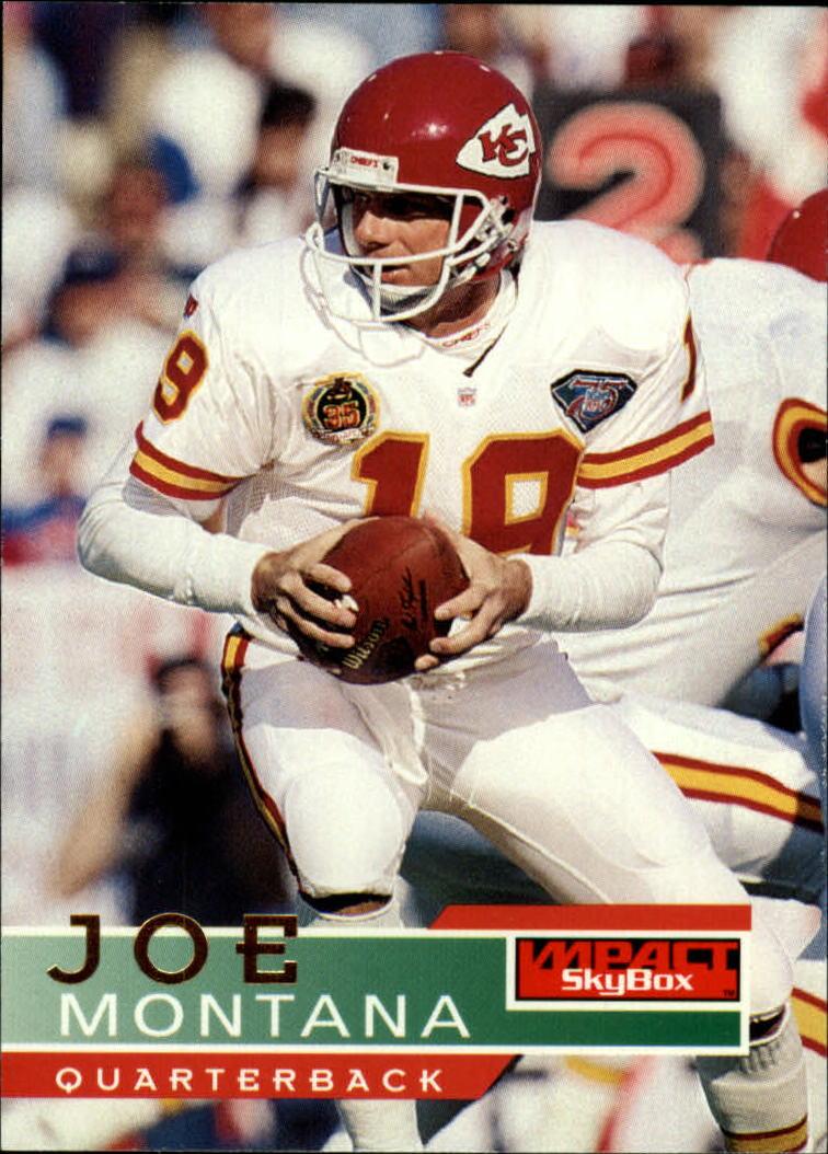 1995 SkyBox Impact #72 Joe Montana