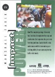1995 SkyBox Impact Power #IP14 Marshall Faulk back image