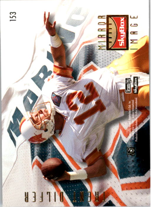 1995 SkyBox Premium #153 Dan Marino/Dilfer back image