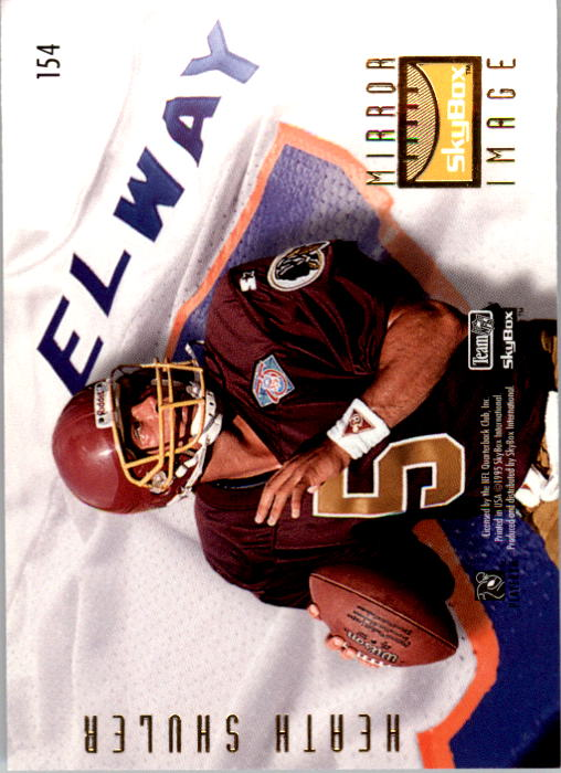 1995 SkyBox Premium #154 John Elway/Shuler back image