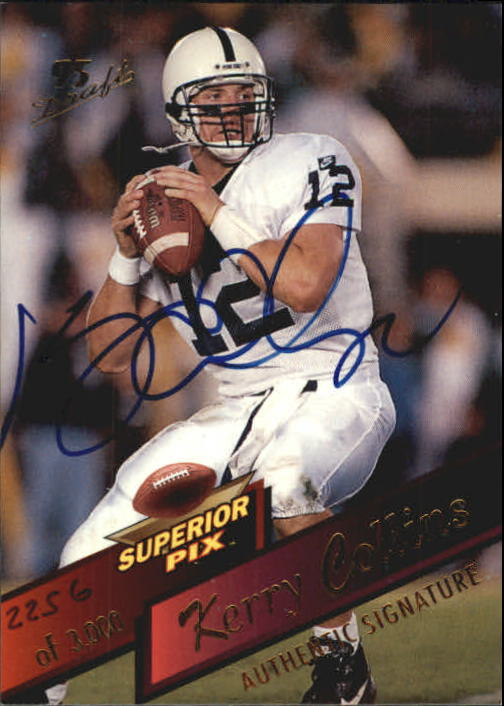1995 Superior Pix Autographs #5 Kerry Collins/3000
