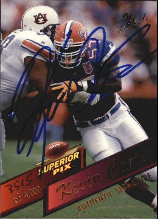 1995 Superior Pix Autographs #40 Kevin Carter/4000