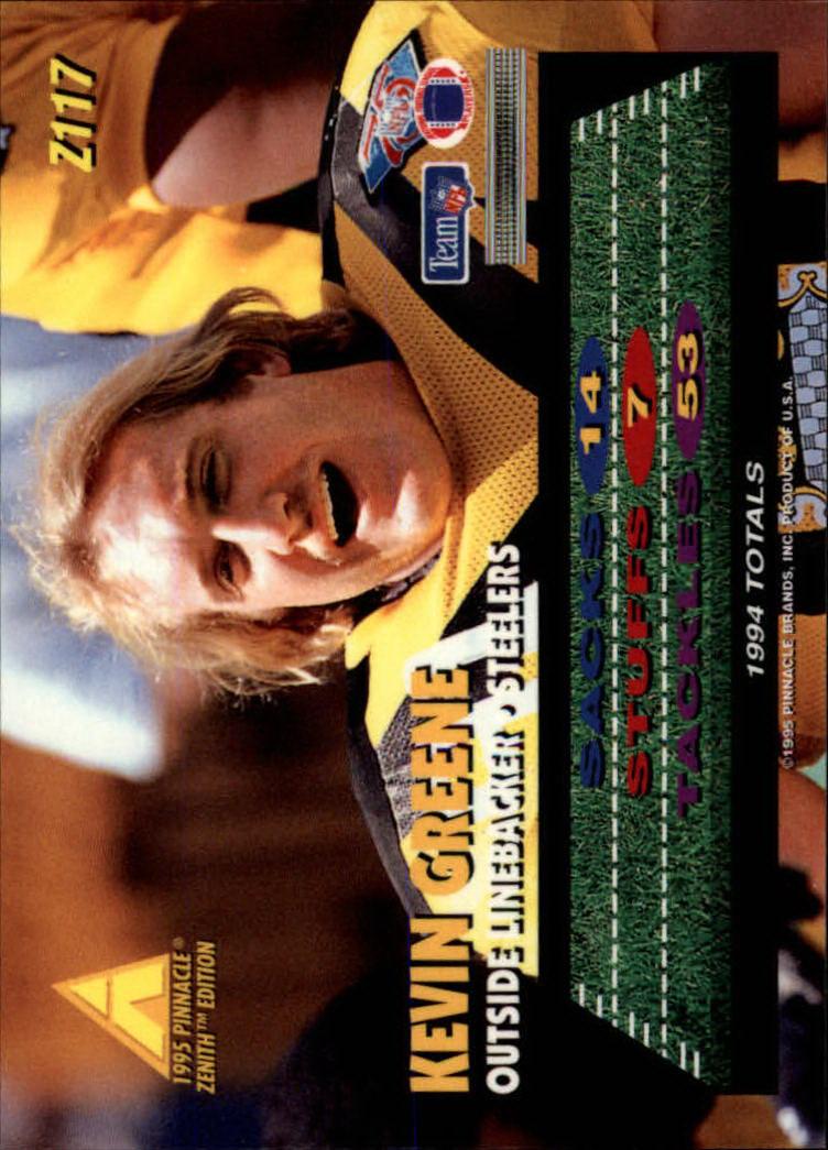 1995 Zenith #Z117 Kevin Greene back image