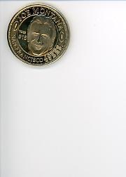 1996 49ers Save Mart Cards/Coins #CO5 Joe Montana