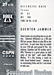 1996 Roox Prep Stars MW/SW #SW37 Quentin Jammer back image