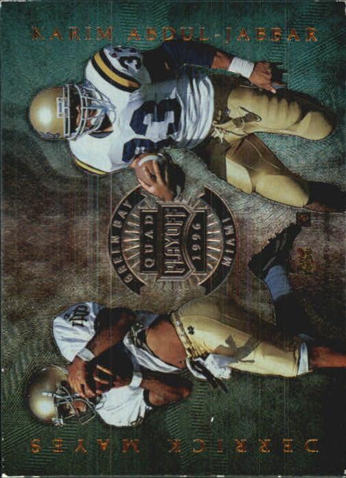 1996 Absolute Quad Series #34 Derrick Mayes/Karim Abdul-Jabbar/Alex Van Dyke/Bobby Engram