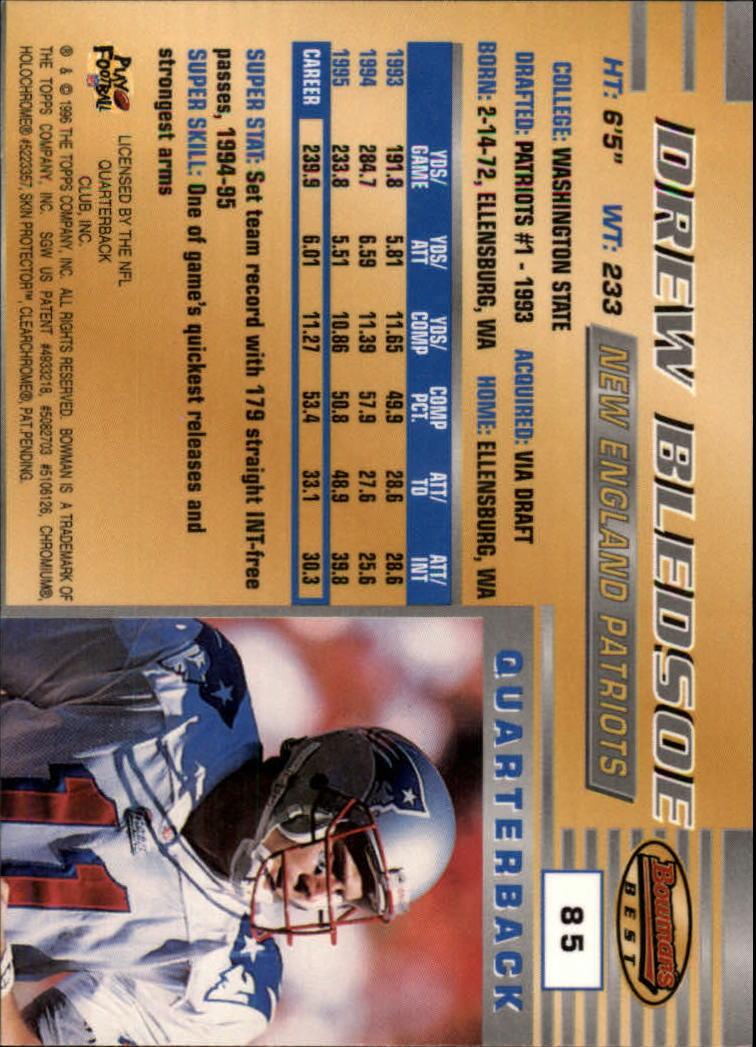 1996 Bowman's Best #85 Drew Bledsoe back image